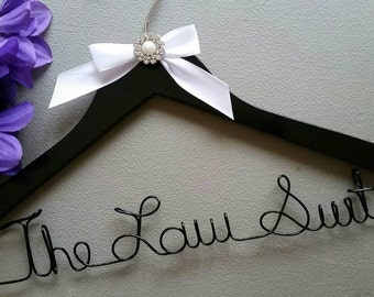 Lawyer Hanger, New Graduate or The Soon to Be female Lawyer Great Gift - Attorney Hanger