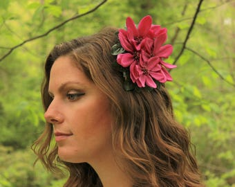 Vivid Purple Fascinator | Flower Fascinator | Derby Hat | Flower Hair Accessory