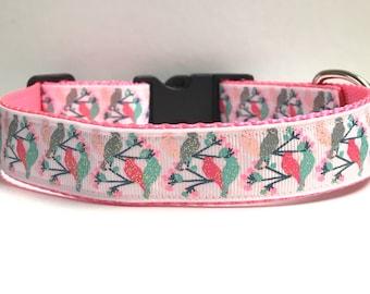 Love birds & Cherry blossoms collar