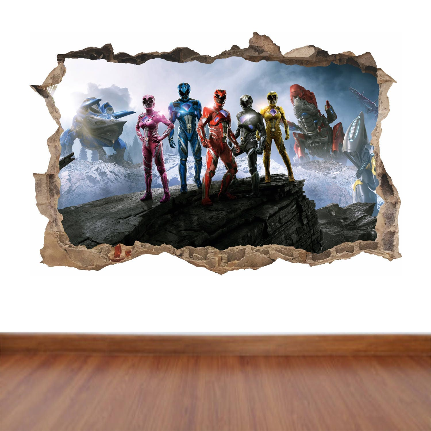 Power Rangers   Hole In The Wall Feature Colour Wall Sticker Decal Poster  Vinyl In 4 Sizes Part 87
