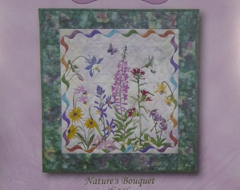 Spring is in the Air~Nature's Bouquet McKenna Ryan Applique Quilt Pattern Block,Fast Shipping PT408