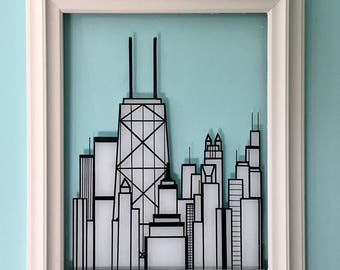 Chicago Skyline, 2D