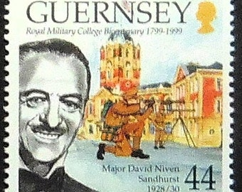 Major David Niven, Sandhurst 1928/30 -Handmade Framed Postage Stamp Art 21092AM