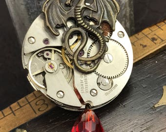 Steampunk game of thrones necklace Handcrafted artistic jewelry -The Victorian Magpie