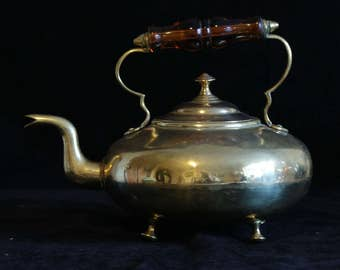 Antique Brass Toddy Kettle - Handmade