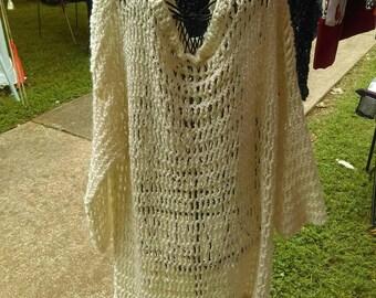 Beige Crochet off the shoulder top