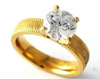 Truely Pretty size 9 Womans Crystal  engagement ring