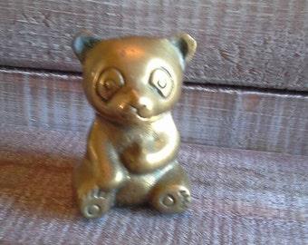 Vintage Brass Bear