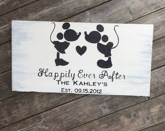 Disney Family Sign - Family Sign – Disney Wedding Gift – Disney Wedding Sign – Disney Anniversary Sign - Family Name Sign