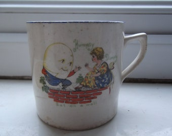 Edwardian Humpty Dumpty child's mug