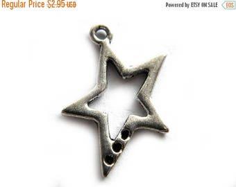 HALF PRICE 6 Silver Star Charms