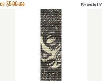 SALE HALF PRICE off Instant Download Beading Pattern Peyote Stitch Bracelet Sugar Skull Timora Seed Bead Cuff