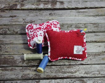 Harris Tweed pin cushion, pins, sewing accessory, liberty pin cushion