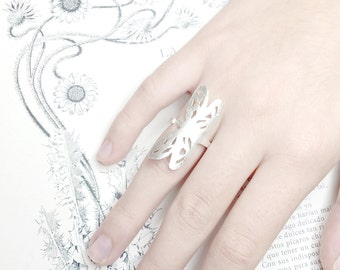 Dragonfly Ring, Sterling Silver Ring, Boho Ring, Adjustable Ring, Gift for Her,Single Ring, Lovely Dragonfly Ring, Nature Jewelry
