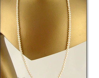 Vintage Marvella Faux Pearl Necklace 28 Inch Length (Inventory #J608)