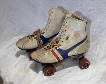 Roller Skates, Vintage Roller Derby Skates, Retro Mid Century Salvage