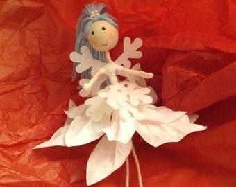 "Handmade Fairy- ""Snowflake fairy"""