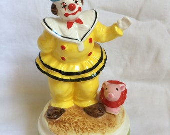 Vintage Schmid wind up musical plays Send in the clowns Musical collectibles signed by Artist