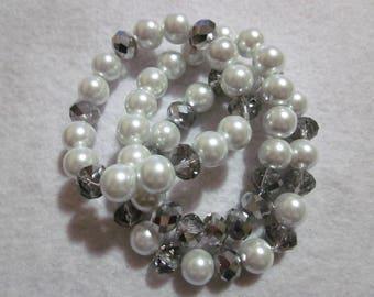 White Bracelet Stack
