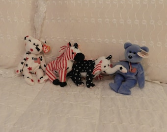 Beanie Babies: Lefty, Righty.America and Glory