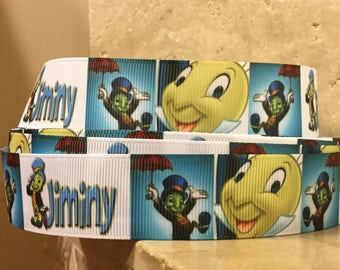 5 YDS Jiminy Cricket Collage Ribbon