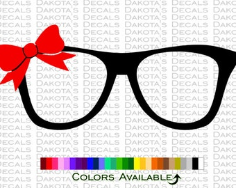 Nerd Glasses with Bow Decal