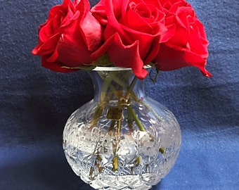 Handcut Crystal Vase