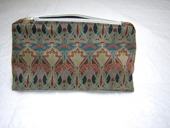 Liberty Fabric Large Make Up/Wash Bag 'Ianthe Bronze