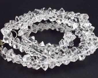 "Herkimer Diamond Quartz Necklace From USA - 17"""