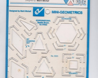 Mini Geometrics Quilting Template - Ten Miniature Geometric Shapes - EZQuilting Template #9303