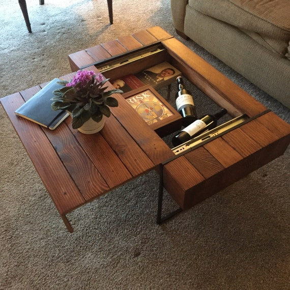 Block Coffee Table With Hidden Storage