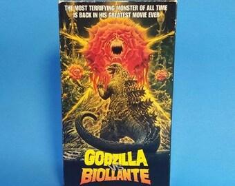 Vintage Godzilla vs Biollante VHS Tape