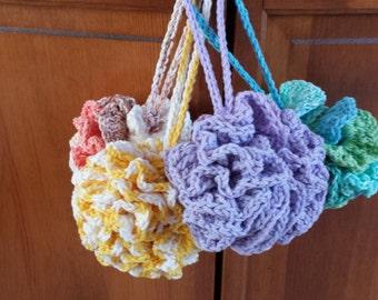 Loofah - Bath Puff, Shower Scrubbie, Skincare,  Crocheted Spa