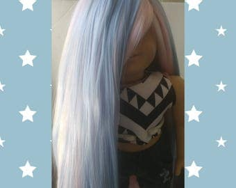 Cotton Candy; One of a Kind American girl doll wig
