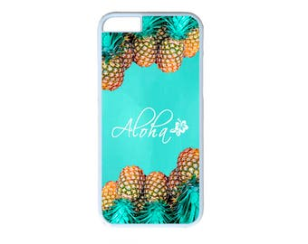 Pineapple Aloha Hawaii Case Cover for iPhone 4 4s 5 5s  5C 6 6s 6 Plus 7 7 Plus iPod Touch 4 5 6 case Cover