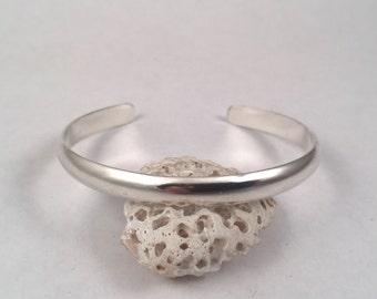 Silver Cuff Bracelet, Sterling Silver Cuff, Stacking Bracelet, Sterling Silver Bracelet, Simple Cuff, Plain Cuff, Silver Bangle