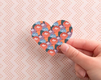 Flower Heart Sticker