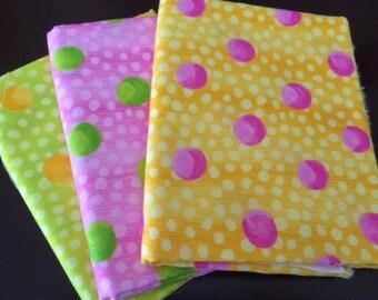 Garden Maze by Jane Davies for Free Spirit Fabric   Dots Circles Fabric  Half Yard Bundle