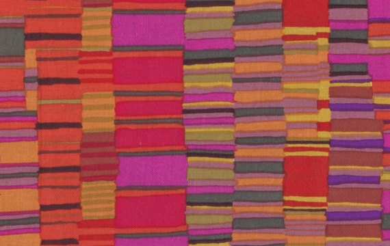 SHIRT STRIPES Red by Kaffe Fassett Collective Sold in 1/2 yd increments