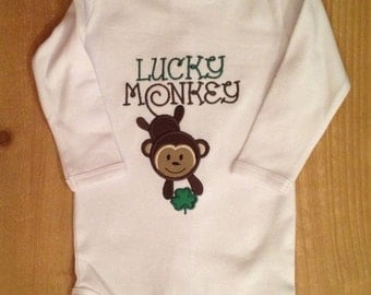 Lucky Monkey Shirt or Baby Bodysuit