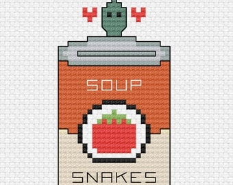 The Office Cross Stitch. You and I are Soup Snakes.