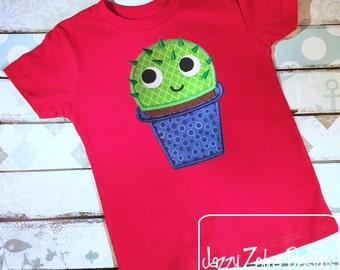 Cactus 2 applique embroidery design - succulent appliqué design - plant appliqué design - cactus appliqué design