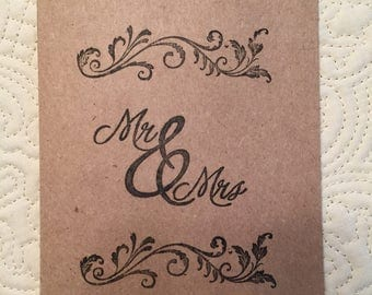25 Mr. and Mrs. Thank you/Wedding Cards