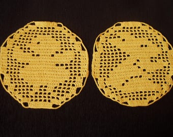 Easter crochet, Doily Easter  crochet,Easter decoration, handmade crochet filet