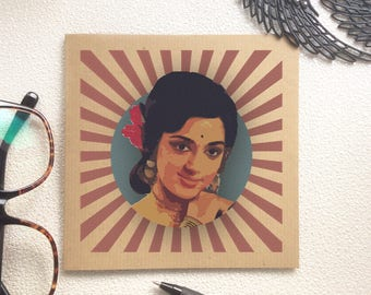 Bollywood Actress Card - Indian Card, Desi Card, Happy Birthday, Congratulations, Classic Card, Thank You Card, Hindi film, Bollywood Movie,