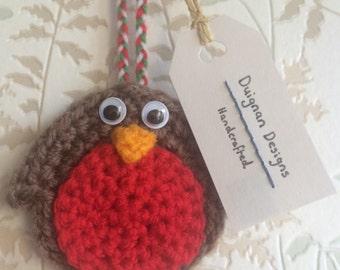 Crochet Robin Tree Decoration