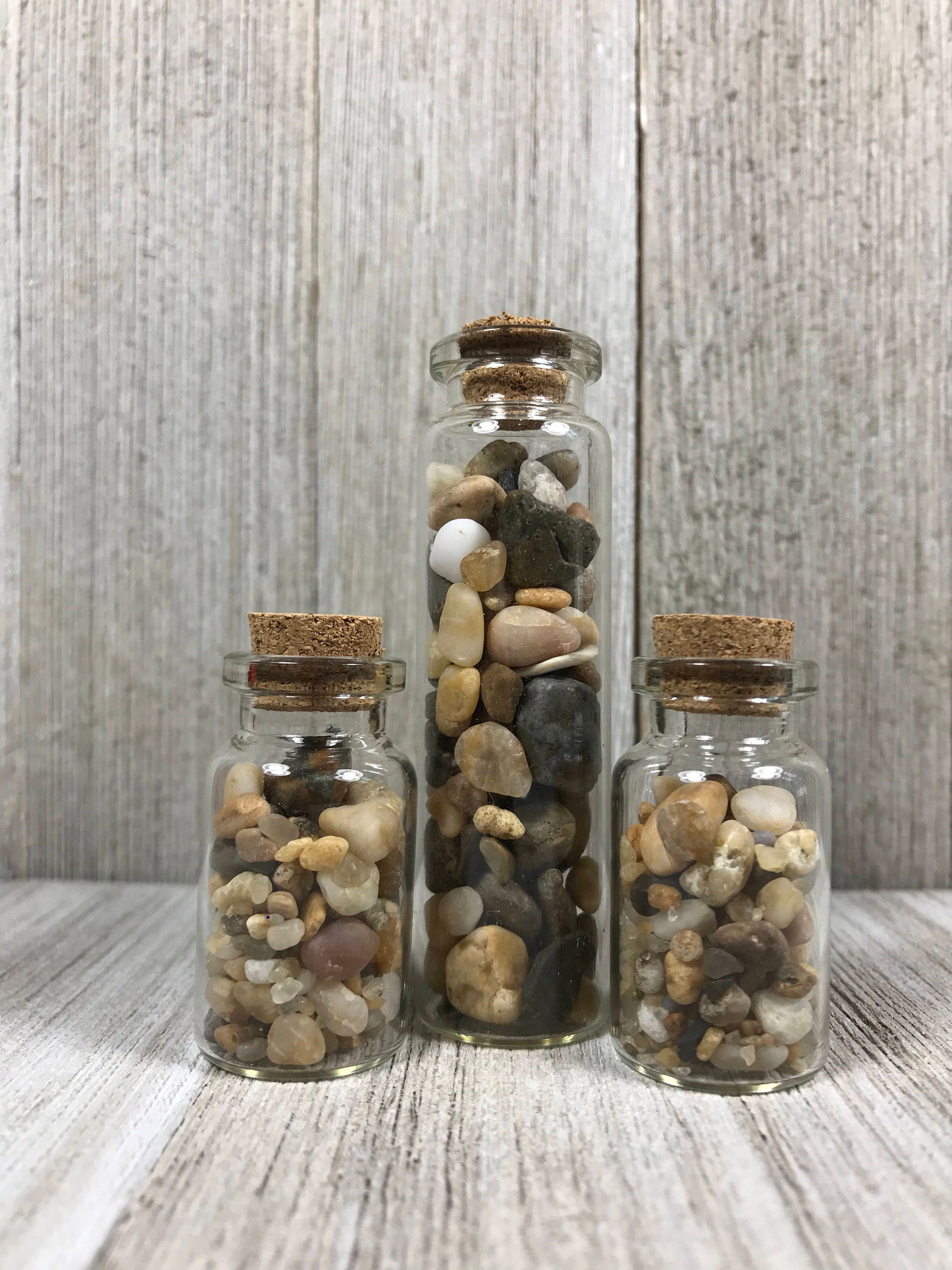 beach sand vials; glass vial of sea sand;jar of sand and pebbles