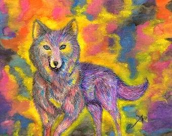 Spectrum Spirit : Wolf Photo Print