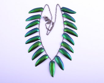 Insect Wings 1930's Necklace (580e)