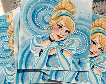 "Cinderella 4x4"" Fine Art Quality Print."
